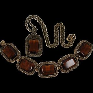 Vintage 1960s Judy-Lee Bracelet and Pendant Necklace