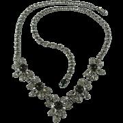 Sherman Daisies Rhinestone Necklace