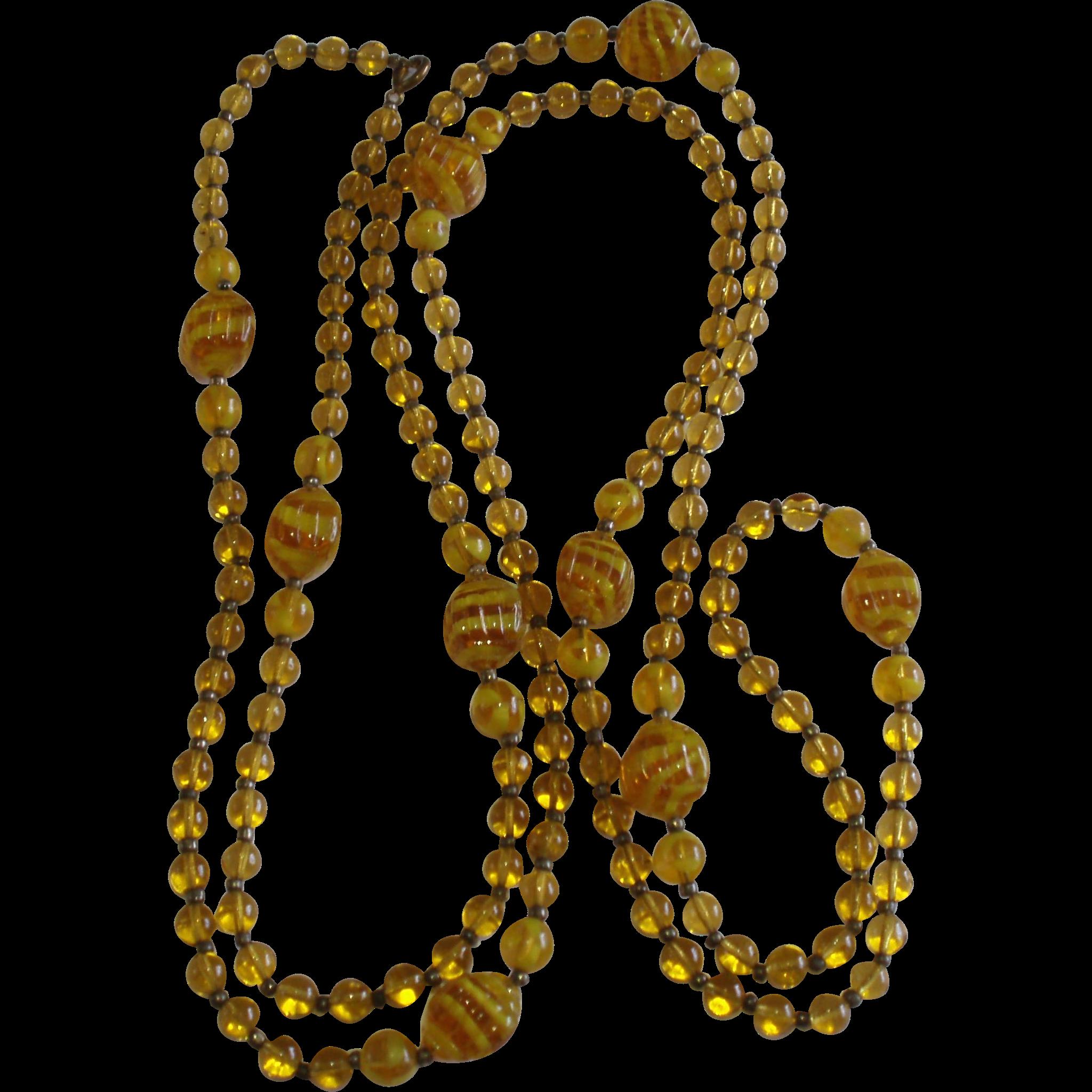 Vintage Flapper Necklace 70