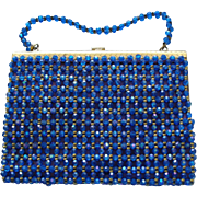 KORET Italy Blue Bead Evening Bag