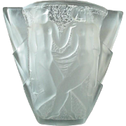 Vintage David Gueron French Art Glass Deco Vase Signed Gueron France - Degue