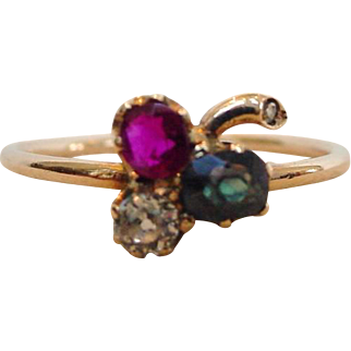 Antique Alexandrite Ruby & Diamond Ring - Old and Wonderful!