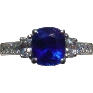 Vintage Blue Sapphire and Diamond Engagement Ring by Coast