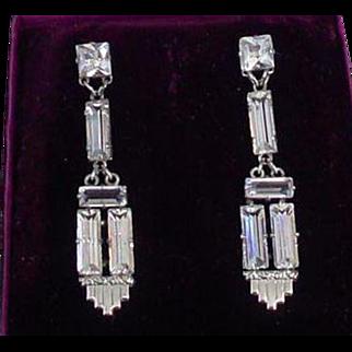 Gorgeous Art Deco Period Glass Paste Earrings