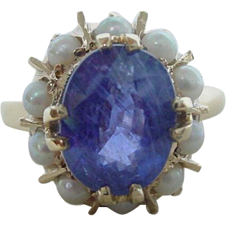 Vintage Art Deco 2.5 Carat Natural Color Change Sapphire Ring EGL Certified No Heat