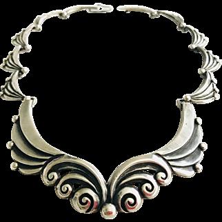 Superb! Margot de Taxco 925 Sterling Silver Necklace