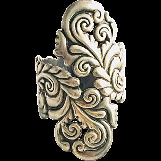Gorgeous! Vintage Villasana Sterling Silver Clamper Bracelet