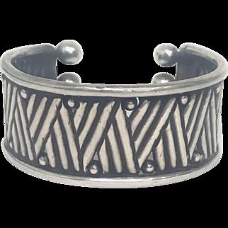 Amazing! Spratling Sterling Silver Geometric Design Bracelet Cuff