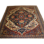 Antique South West Persian Khamseh tribal rug of beautiful design and colour.  Circa 1870.