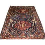 Antique South West Persian Khamseh tribal rug of beautiful design and rich colour.  Circa 1900.
