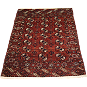 Antique Tekke Turkmen rug of excellent design and colour, the rug is of a rich red/brown colour. Circa 1900.