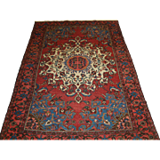 Antique North West Persian Tafresh village rug from the Greater Hamadan Region.   Circa 1900.