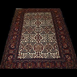 Antique North West Persian Joshaghan rug of unusual design, in superb condition.  Circa 1900.