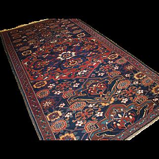 Antique Persian Varamin Region rug with the well-known mina khani design.  Circa 1900.