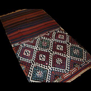 Antique Anatolian Malatya chuval (storage bag) of superb colour and design.  Circa 1900.