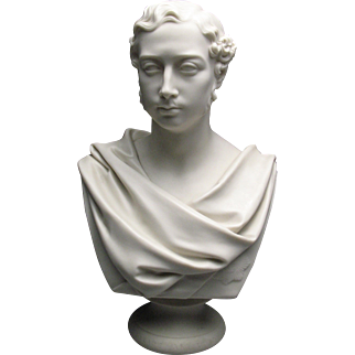 19c. Copeland Parian Porcelain Bust of Prince Albert For Crystal Palace Exhibition