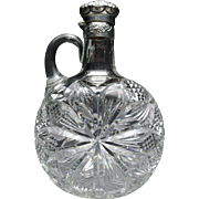 Scarce Gorham Sterling Silver Lidded J. Hoare & Co American Brilliant Cut Decanter