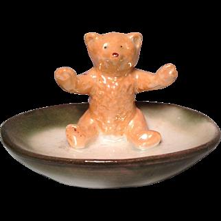 """Pink Paw"" Teddy Bear figurine"
