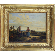 A Meal of the Shepherds, 19th Century, oil on board