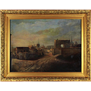 Road to a Small Town, 19th century, oil on canvas