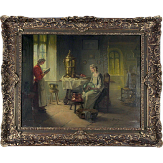 Leisure Time, 19th Century, oil on canvas