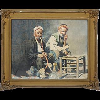 Pipe Smokers in Constantinople, Felix Michał Wygrzywalski (1875-1944), 20th century