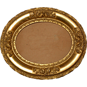 Gold Gilt Oval Victorian Picture or Mirror Frame from late 19th Century or Early 20th Century