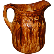Bennington or Spongeware Pitcher Late 19th Century