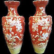 Satsuma Orange Vases