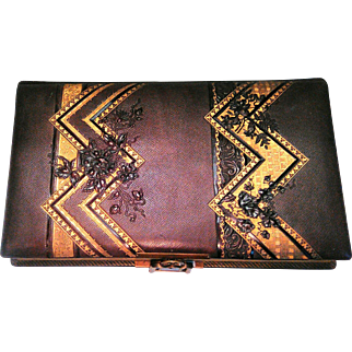 Very Unusual Victorian Leather Photo Album