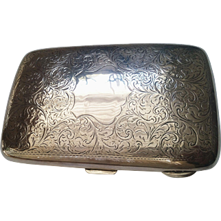 Sterling Silver Cigar Case Hallmarked Birmingham 1919