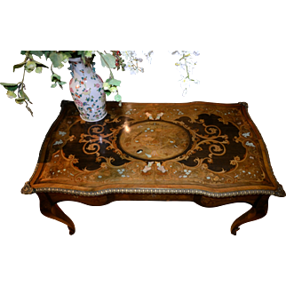 19th C. French Marquetry Desk