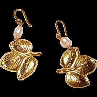 Pair of 18 Karat Gold Earrings