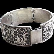 Sterling Silver Art Nouveau Style Bracelet