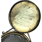 Victorian Gold Memorial/Mourning Locket 1842