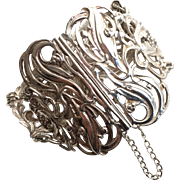 RESERVED For FW •1902 Art Nouveau Sterling Silver Cuff with Nurse's Clasp by Synyer & Beddoes