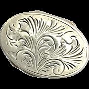 Antique 800 Silver Pill Box