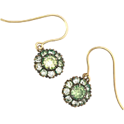 Antique Victorian Paste 9K Gold Earrings