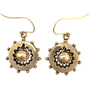 Antique Victorian Earrings on 9K Gold Wires