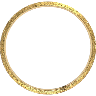Antique Victorian Rolled Gold Armlet/Bangle