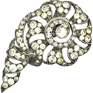 Art Deco Knoll & Pregizer Silver Paste Dress Clip