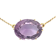 Victorian Amethyst Silver Gilt Brooch Conversion Necklace