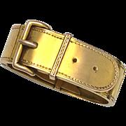 Antique 9K Gold Belt Buckle Scarf Clip