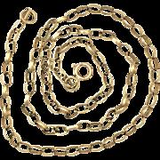 "Vintage 9K Gold Belcher/Rolo Chain 16"""