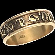 Antique 18K Rose Gold Zodiac Starsign Ring