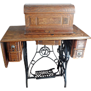 Oak Sewing Machine Cabinet (ca) 1910