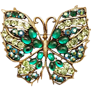 Vintage WEISS Huge Butterfly Pin