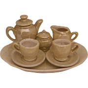 East Germany Luster Miniature Tea Set
