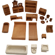 Vintage Creative Playthings Wooden Dollhouse Furniture