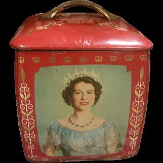 Vintage 1953 Edward Sharp & Sons Royal Family Tin